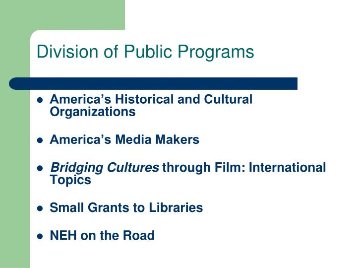 Division of Public Programs