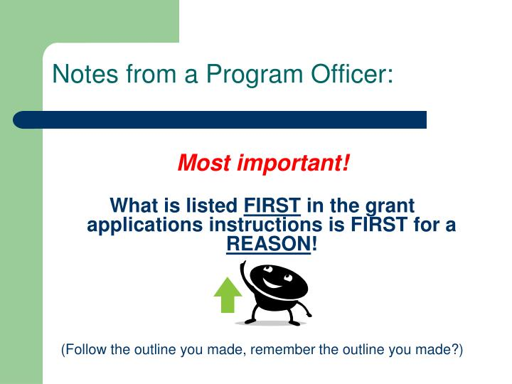Notes from a Program Officer: