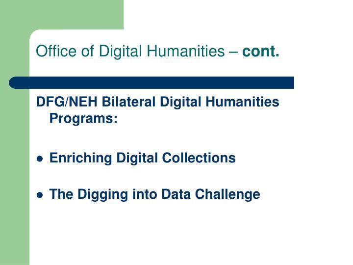 Office of Digital Humanities –