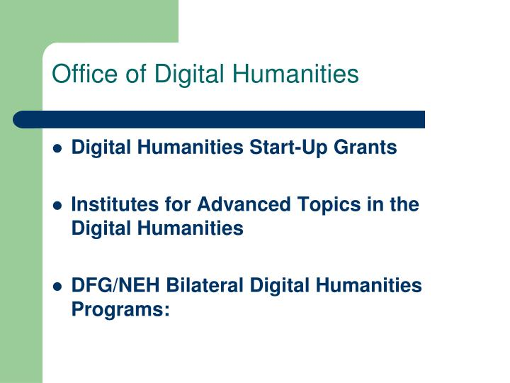 Office of Digital Humanities