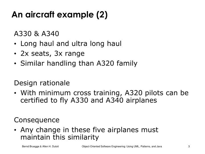 An aircraft example (2)