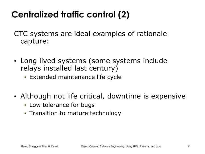 Centralized traffic control (2)