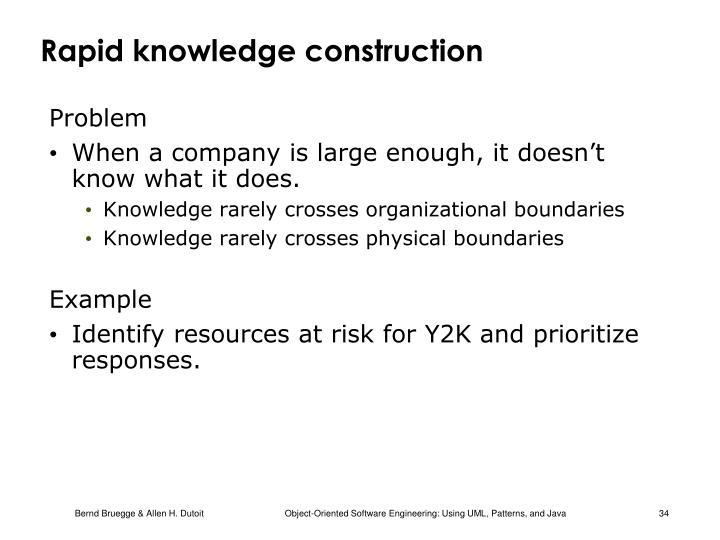 Rapid knowledge construction