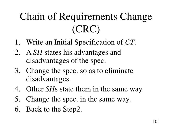 Chain of Requirements Change (CRC)