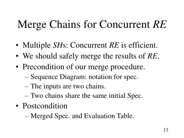 Merge Chains for Concurrent