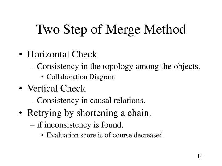 Two Step of Merge Method