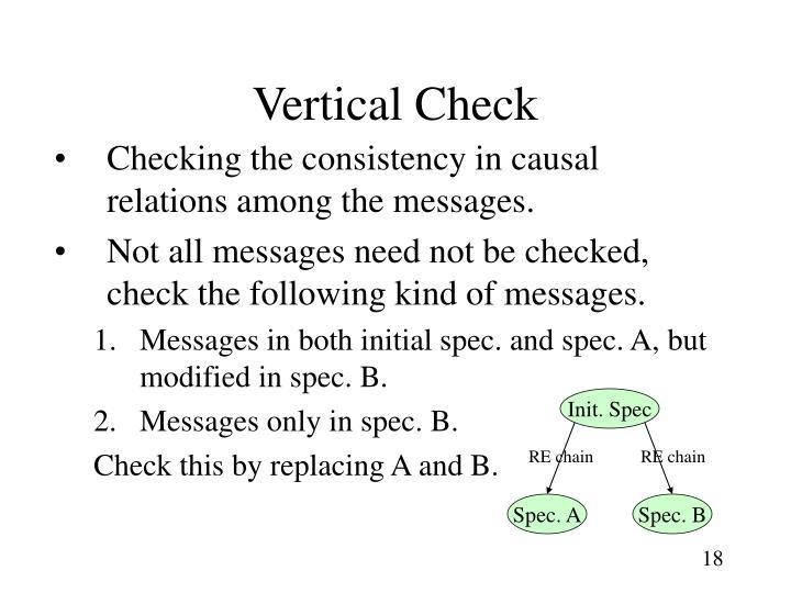 Vertical Check