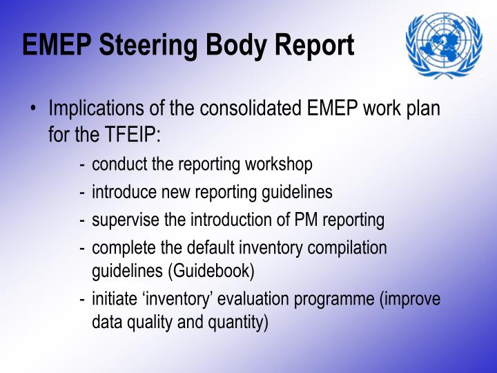 Emep steering body report
