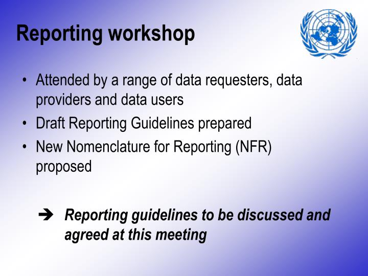 Reporting workshop