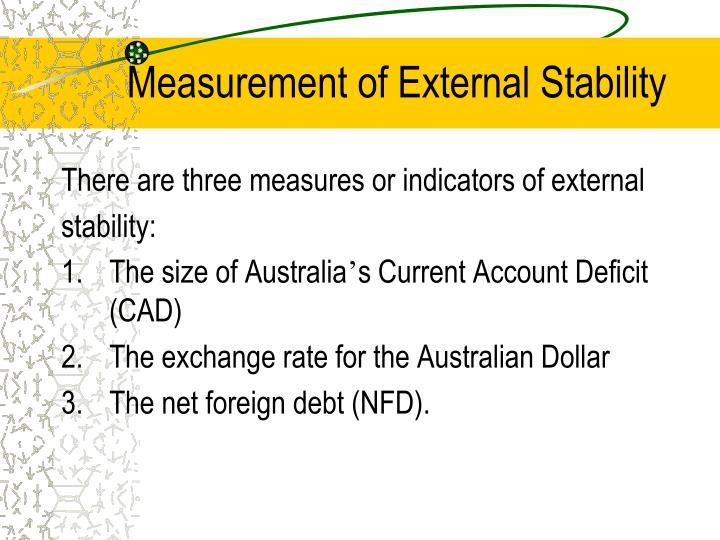 Measurement of External Stability