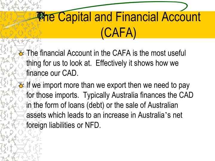 The Capital and Financial Account (CAFA)