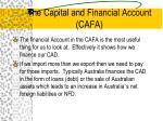 the capital and financial account cafa