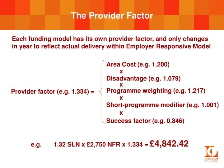 The Provider Factor