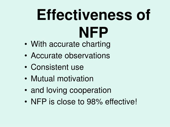 Effectiveness of NFP