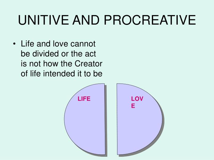 UNITIVE AND PROCREATIVE