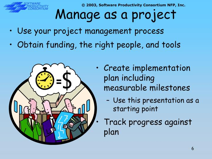 Manage as a project