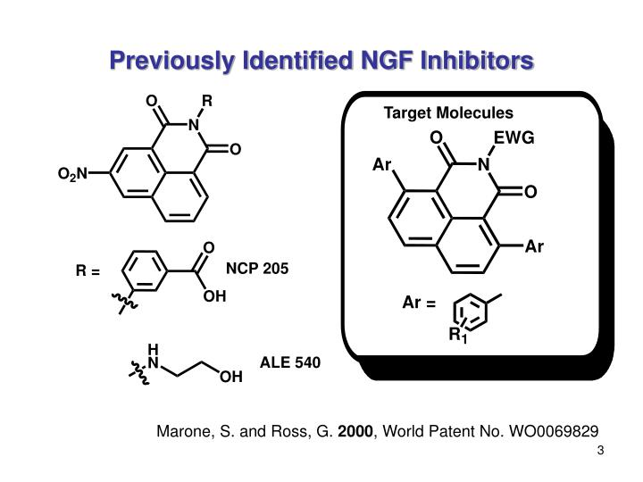 Previously identified ngf inhibitors
