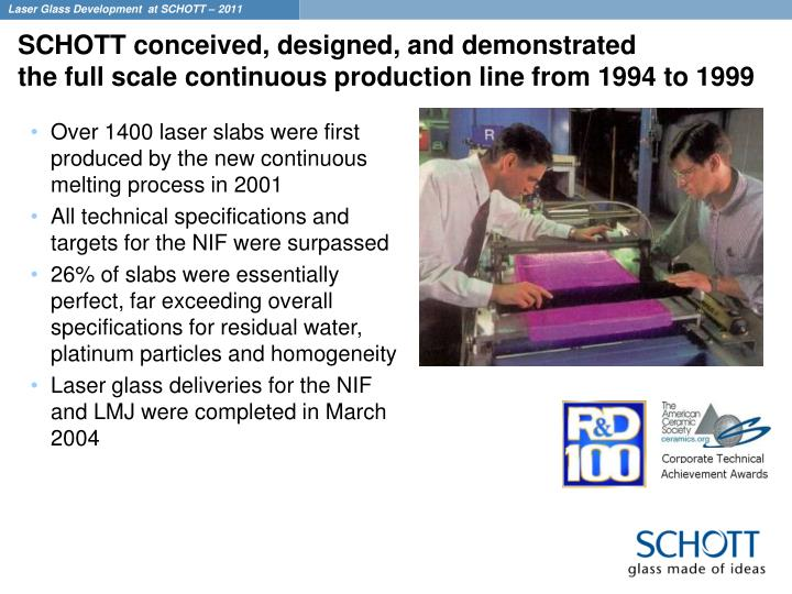 SCHOTT conceived, designed, and demonstrated