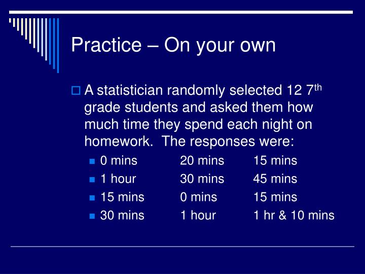 Practice – On your own