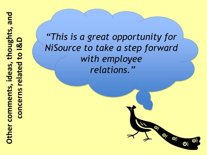 """This is a great opportunity for NiSource to take a step forward with employee"