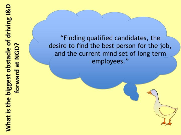 """Finding qualified candidates, the"