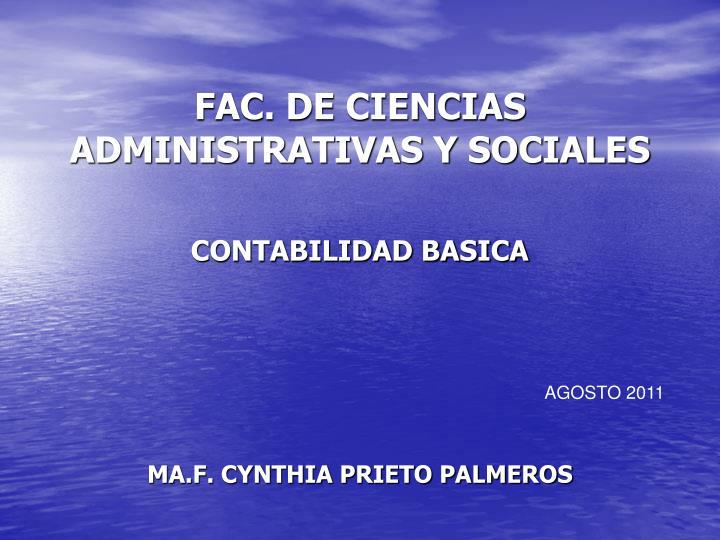 FAC. DE CIENCIAS