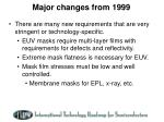 major changes from 19993