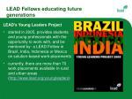 lead fellows educating future generations