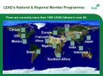lead s national regional member programmes