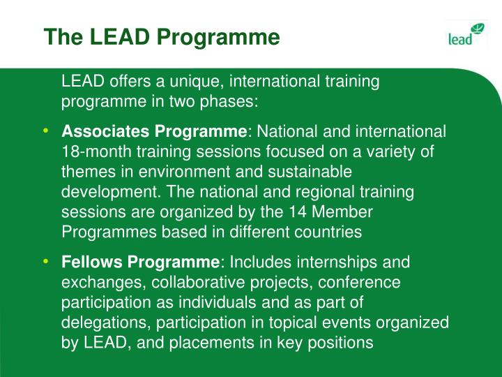 The LEAD Programme