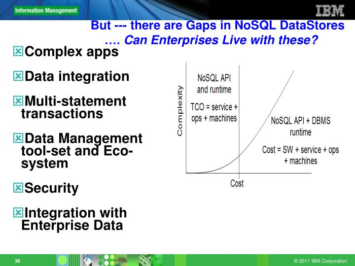 But --- there are Gaps in NoSQL DataStores