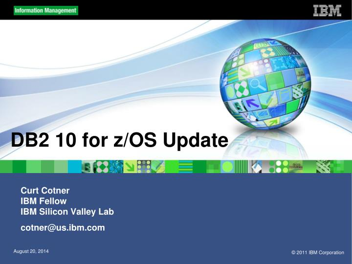 Db2 10 for z os update