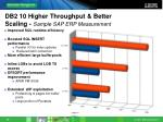 db2 10 higher throughput better scaling sample sap erp measurement