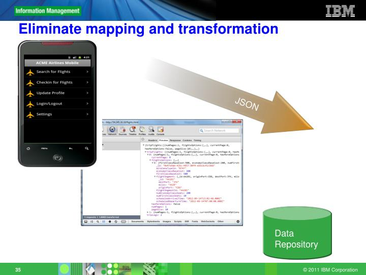 Eliminate mapping and transformation