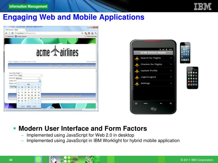 Engaging Web and Mobile Applications