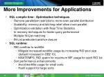 more improvements for applications