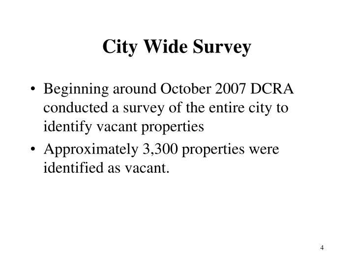City Wide Survey
