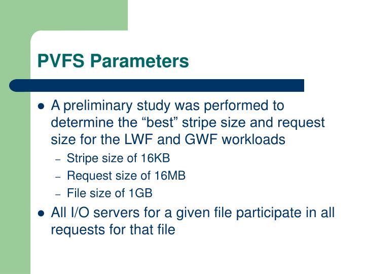 PVFS Parameters