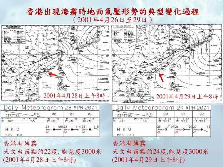 香港出現海霧時地面氣壓形勢的典型變化過程