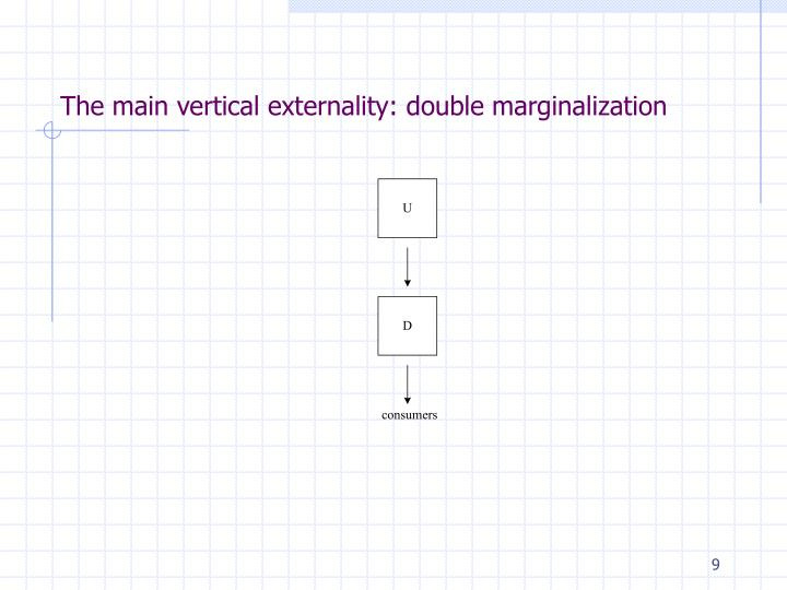 The main vertical externality: double marginalization