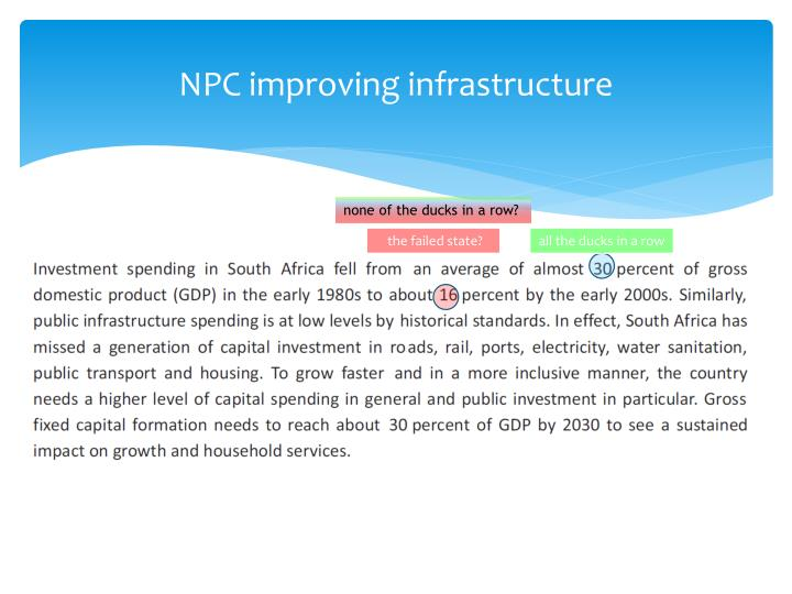 NPC improving infrastructure