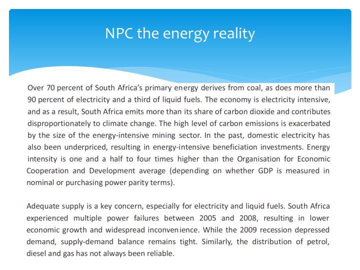 NPC the energy reality