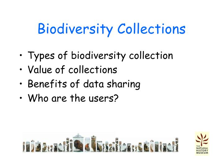 Biodiversity collections