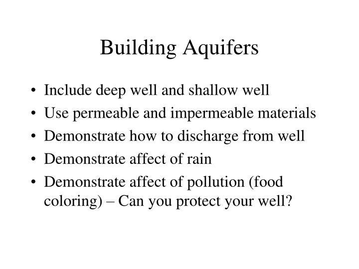 Building Aquifers