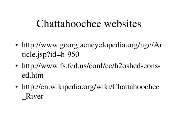 Chattahoochee websites