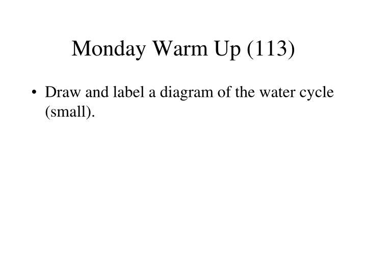 Monday Warm Up (113)