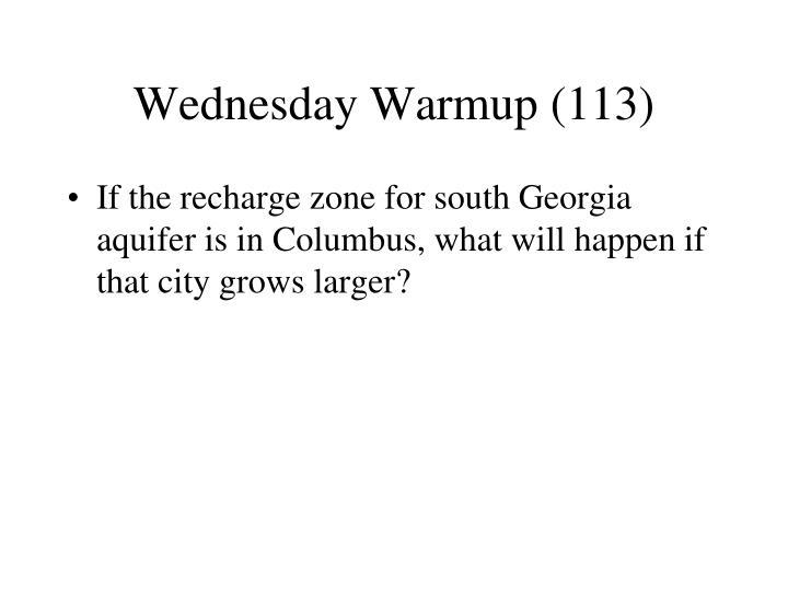 Wednesday Warmup (113)