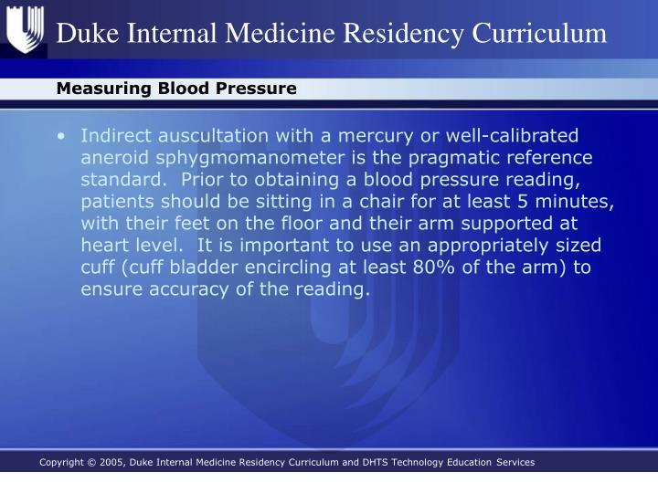 Measuring Blood Pressure