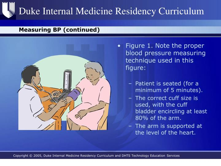 Measuring BP (continued)