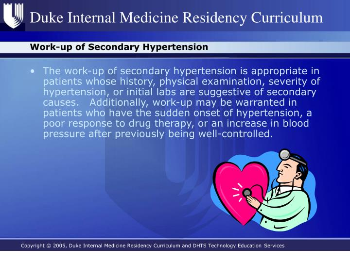 Work-up of Secondary Hypertension